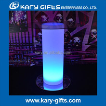 Bar Furniture cocktail table led High glass top bar led table