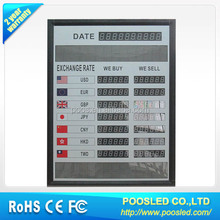 led exchange signage \ led exchange rate sign for money rate \ led exchange foreign signage