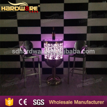 colourful led illuminated liquid bar table for party wedding