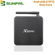 X98 PRO Amlogic S912 Android 6.0 TV Box 2/3G RAM 16G ROM Octa Core Kdplayer 16.1 Dual wifi 4K X98 PRO media player