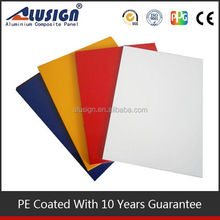 Alusign interior decorative kitchen cabinet door plastic aluminum composite panel plate with superior weathering resistance