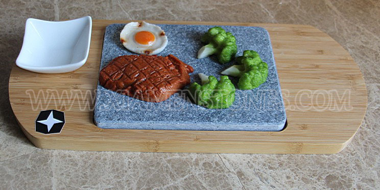 Bbq Stone Set Basalt Steak Grill Plate Hot Rock Cooking Lava For