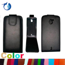 Vertical PU Leather Flip Case for Sony Xperia Sola MT27i