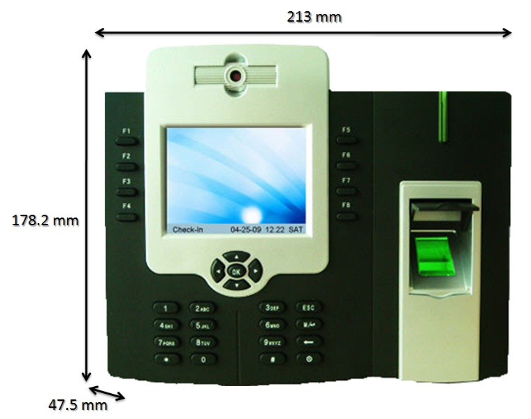 free software optional RFID card wifi with battery fingerprint time attendance iclock 880