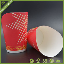 2016 Coloful Good Quality Hard Cardboard Fried Chicken Chips Containers Take Away Fast Food Cups