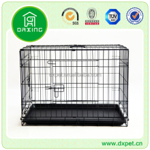 "DXW003 Quality 24"" Folding Heavy Duty Pet Crate Kennel Wire Cage for Dogs Cats or Rabbits"