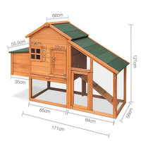Outdoor Hen House Wooden Chicken Coop with nesting box