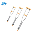 push button retractable cane crutch