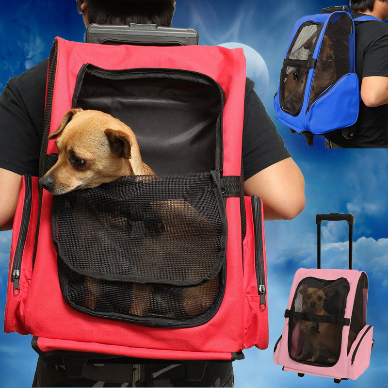 New Hot Sale Durable Oxford Pull Rod Dog Carrier Bag Pet Carrier