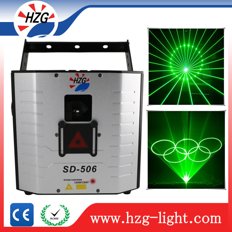 2016 High power lasers diy projector laser lighting 5W green animation programmable disco laser light