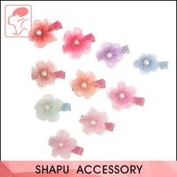 Latest product reasonable price kids baby chiffon flower hair clip