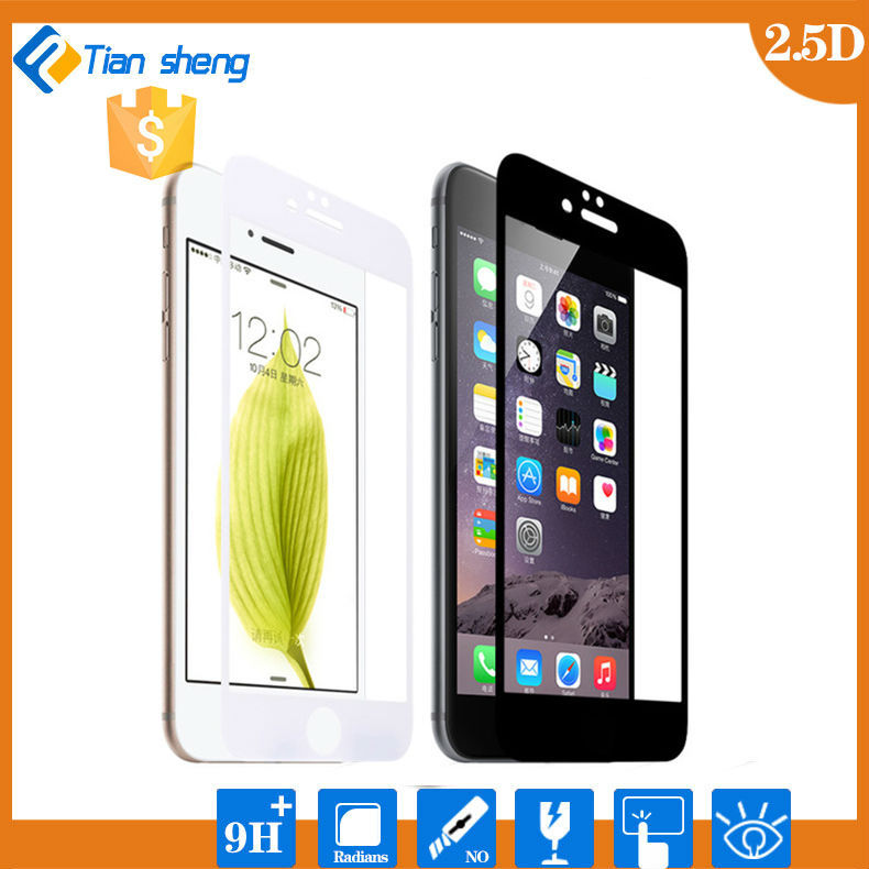 "Premium Tempered Glass Screen Protector Guard Front Full body Cover Skin for iPhone 6 Plus 5.5"" Inch (white&black)"