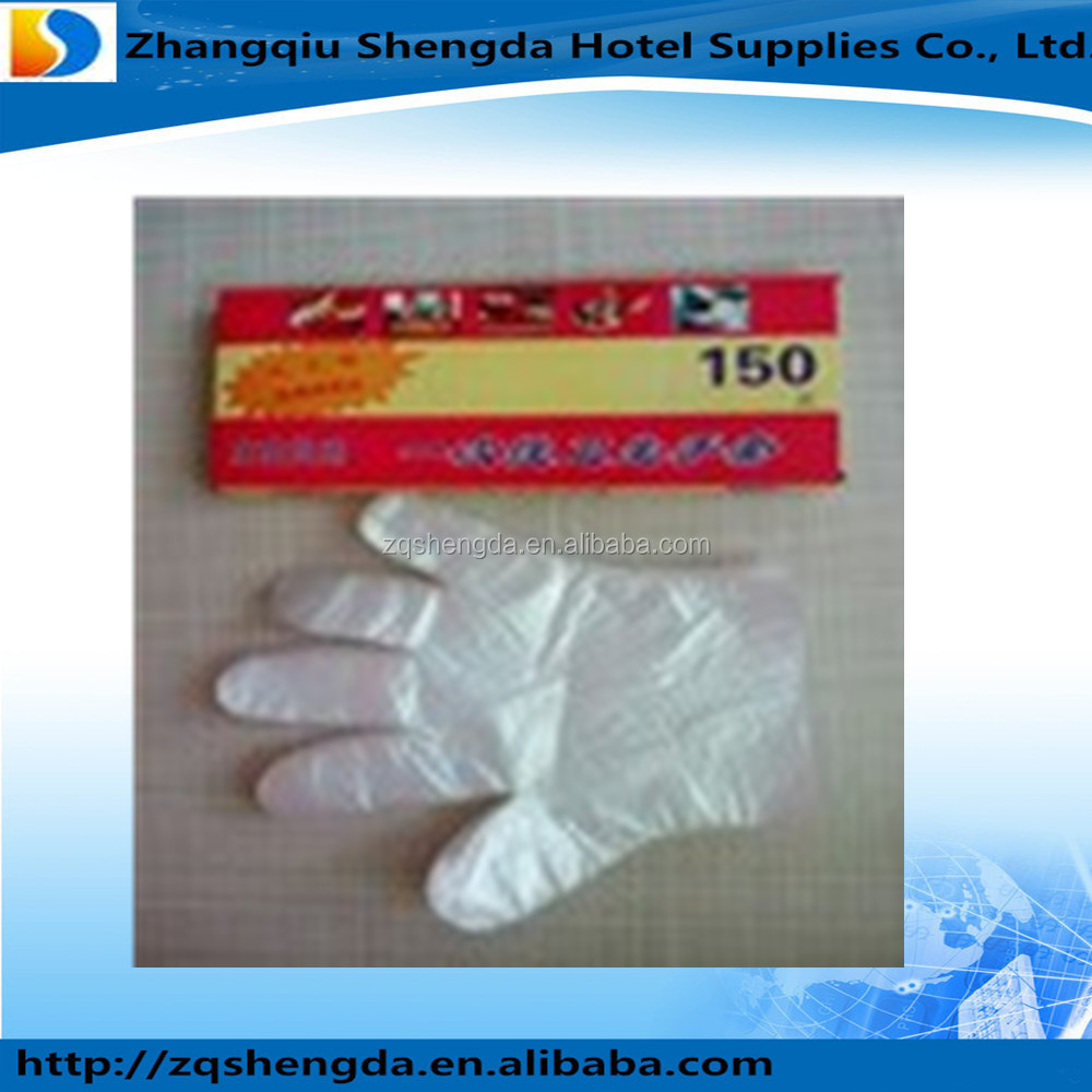 Disposable Biodegradable Plastic Surgical Gloves PE gloves with cheap price