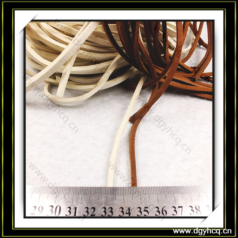 hot selling high strength flat leather cord 3.0mm  3.5mm  for leather shoelaces