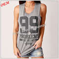 Direct factory price women's deep cut tank top weight lifting muscle Gym singlets