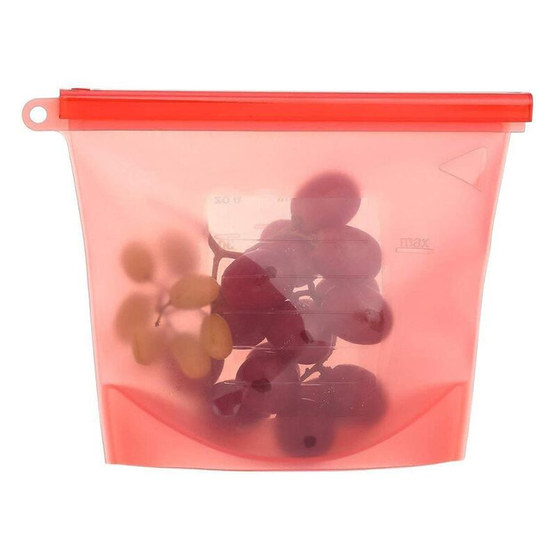 Wholesale custom reusable food storage ziplock silicone food storage bag