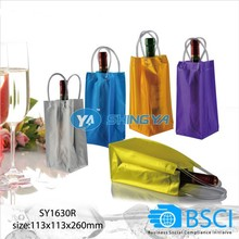 2015 new design portable PVC wine cooler bag for sale (BSCI factory)