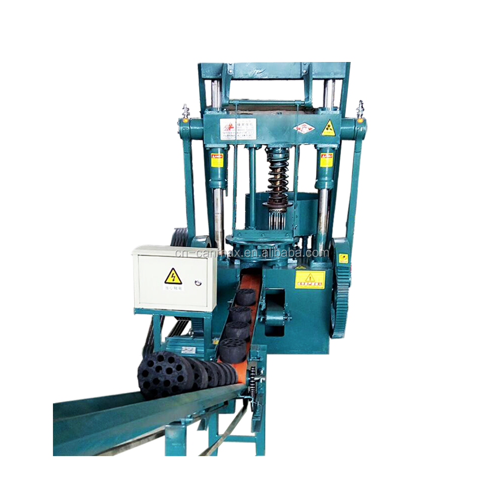 Canmax machinery plant honeycomb charcoal coal powder briquette press make machine price