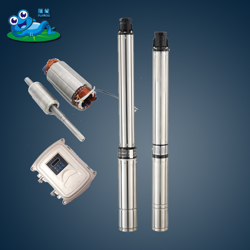 high quality 1hp 2hp Deep Well Submersible Pump for Extraction of Groundwater with Control Box