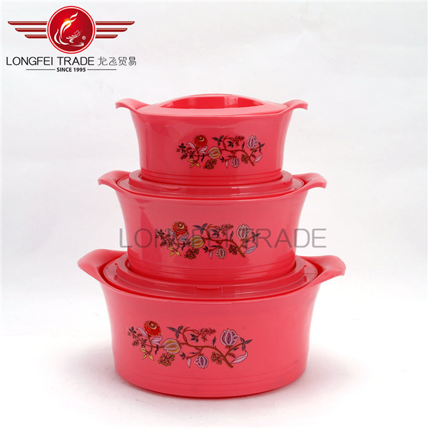 4pcs plastic thermos insulated food warmer casserole