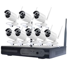 NEW Product !!! wifi 2p2 wireless ip camera kit 8 CH NVR 8CH cctv camera system