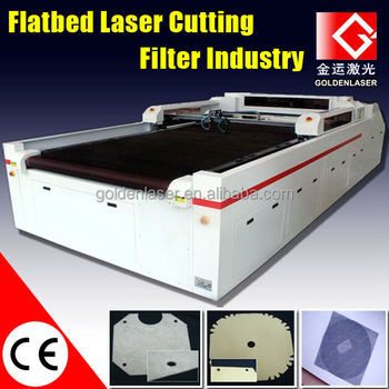 CNC Laser Glass Fiber Mesh Cloth Cutting Machine for Filtration