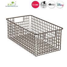 OEM Custom Metal small kitchen vegetable storage baskets With CE SGS