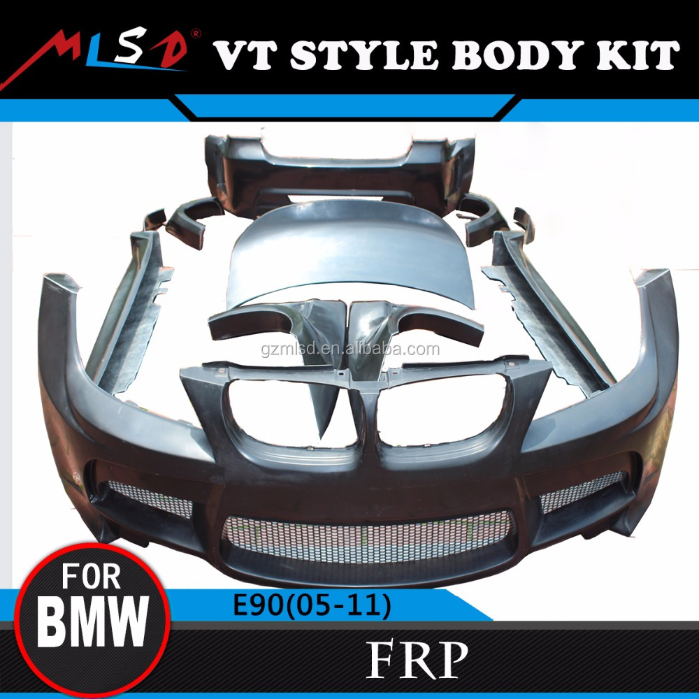 E90 Fiber Glass Body Styling Kit E90 Car Tuning Bumper for BMW E90 V-T Style Body Kit 05-11