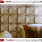 hot sale modern 3d style leather wallpaper with vinyl material