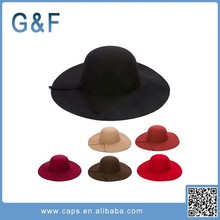 In Stock Cheap Wide Brim Wool Felt Hat Blank Wholesale