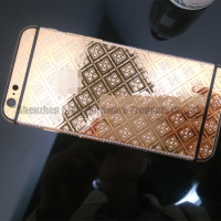 Luxury 24k gold housing for iphone 24ct gold back cover diamond full housing