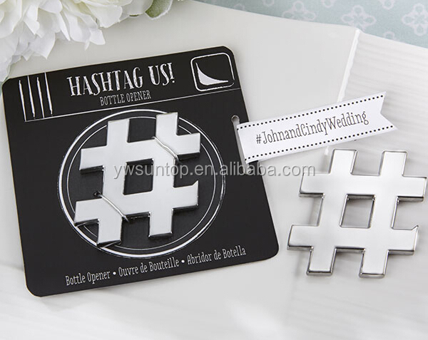 "Fancy ""Hashtag Us!"" Bottle Opener Wedding supplies"