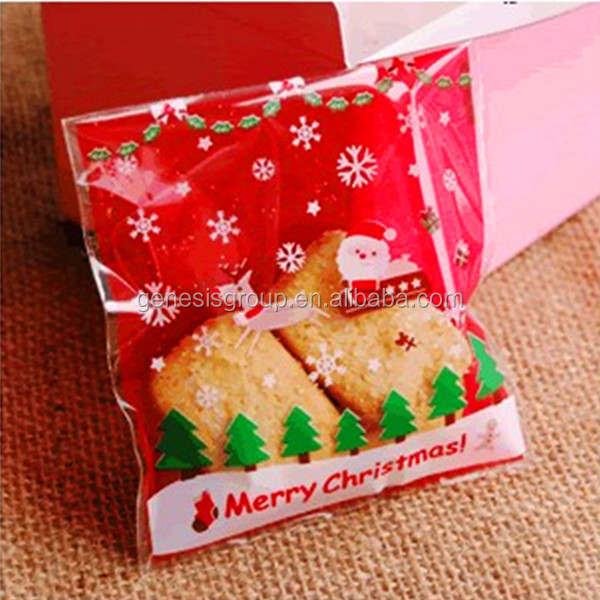Wholesale plastic christmas gift bags for cookies or