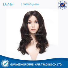 wholesale high quality natural brazilian body wave human hair full lace mohawk wig