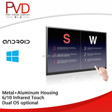 "55"" Infrared Touch Wall mounted interactive whiteboard multi touch screen display with Dual OS"