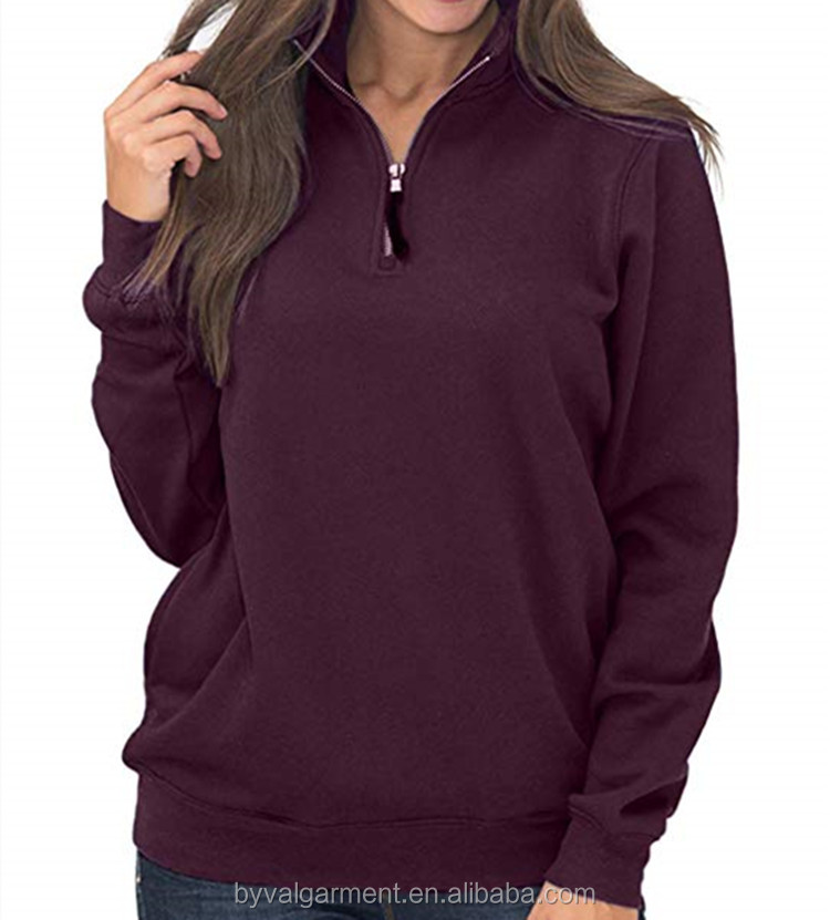 Wholesale Women's Comfortable Quick Dry Long Sleeve Half Zip Shirts