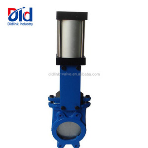 Pneumatic Actuated Baker 3 Stainless Steel Ss Ductile Iron 5 Inch Knife Gate Valve Wafer Type