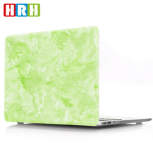 Light Green Marble Laptop Body Shell Protective Rubberized Hard Case for Macbook Air 11 13 Pro 13 15 Pro Retina 12 13 15
