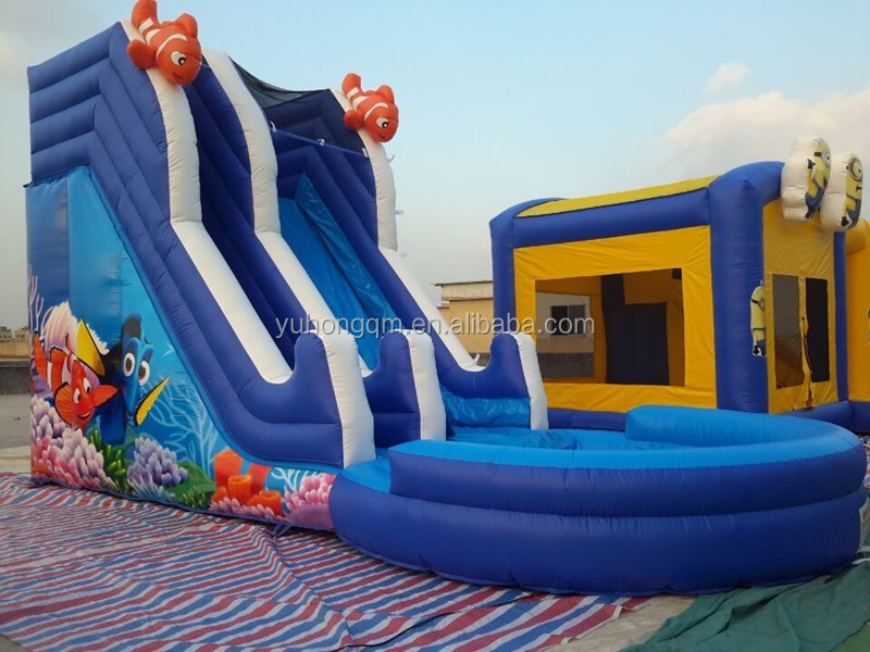2015 commercial grade inflatable water slides with high quality