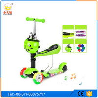 2016 new arrival kids kick scooter parts 3 in 1 mini scooter with music