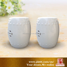 Hot sale outdoor porcelain table stool white ceramic garden chinese stools