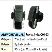 wrist band c/w mobile phone pouch