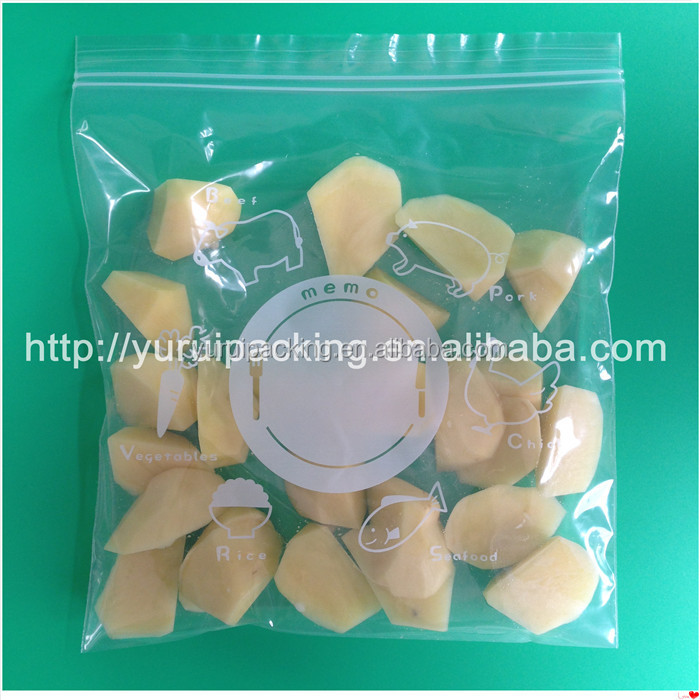 bread packaging bag/plastic bags for spices with zipper