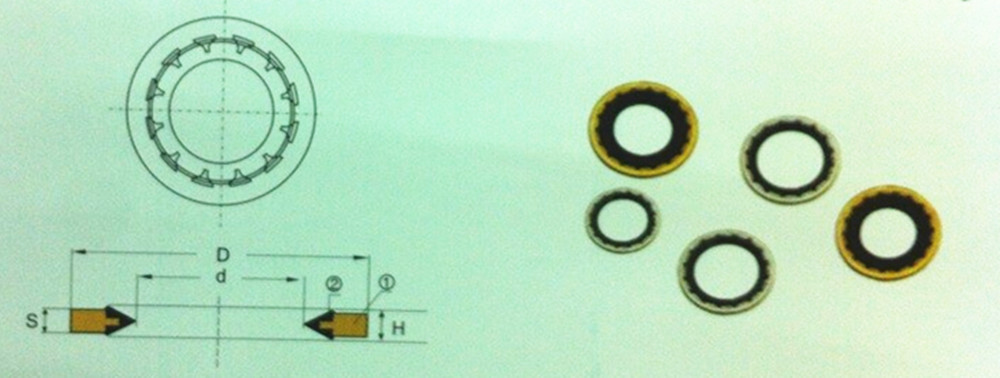 Best quality customized various size NBR Copper Washer