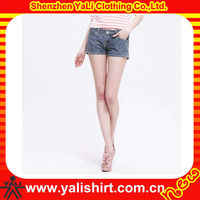 2015 stylish high quality casual cotton washed tight slim fit sexy mini women denim shorts