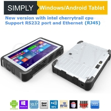 10 Inch Ip65 Rugged Waterproof Windows Tablet Pc With Ethernet Rs232 Rj45 Port Barcode Scanner Nfc Reader For Public Safety