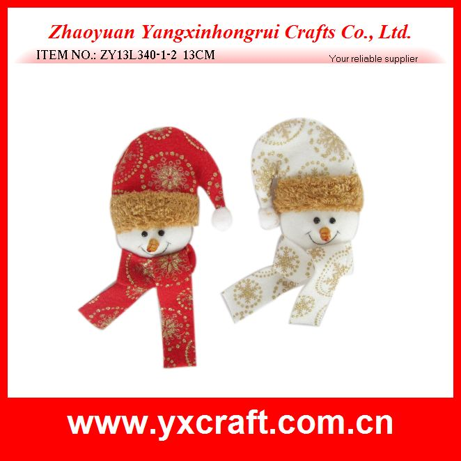 Christmas snowman (ZY13L340-1-2 13CM) plush toy for christmas gift christmas deco