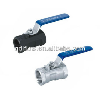 One piece body threaded end ball valve PN64