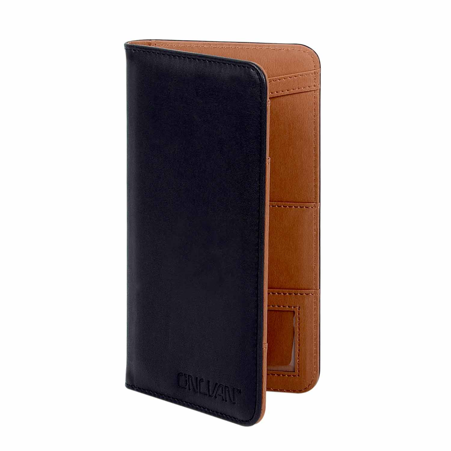 Customized PU Leather Rfid Blocking Travel Passport Holder passport ticket wallet with ID