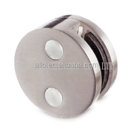 stainless steel round glass clamps for stairs glass cabinet clips